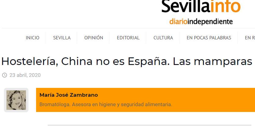ARTICULO OPINIÓN SOBRE MAMPARAS EN RESTAURACIÓN, SEVILLAINFO