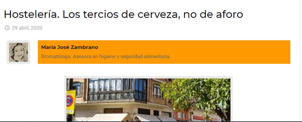 Publicación en Sevillainfo, hoy 29 de abril de 20202
