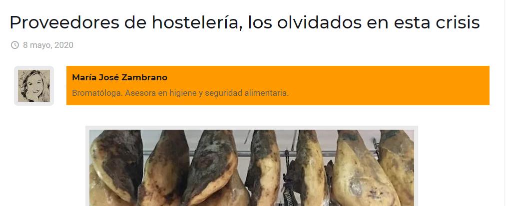 Publico hoy en Sevillainfo;  los proveedores de hostelería , los otros perjudicados de la crisis.