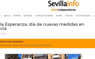 Artículo en Sevillainfo, Hostelería sobre medidas a partir 18.12.20, en Andalucía.