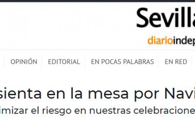 Artículo en Sevillainfo, nuevas medidas en comidas navideñas para evitar el covid-19, en entornos familiares privados