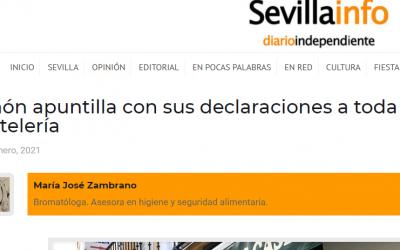 Artículo en Sevillainfo, Simón apuntilla a la Hostelería