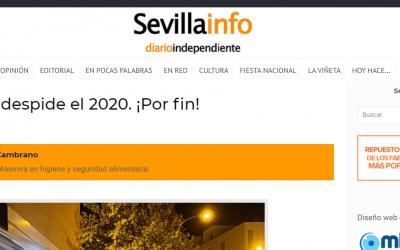 Artículo en Sevillainfo, Hostelería Sevillana y la despedida del 2020