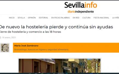 Artículo en Sevillainfo, medidas que entran hoy 17.01.21
