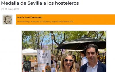 Artículo en Sevillainfo, Medalla de Sevilla para los Hosteleros
