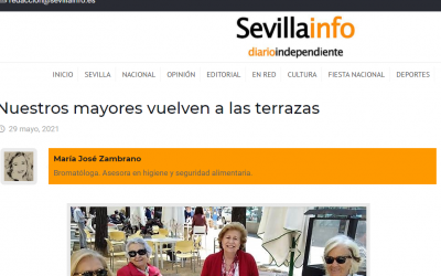 Artículo en Sevillainfo, los mayores vuelven a las terrazas