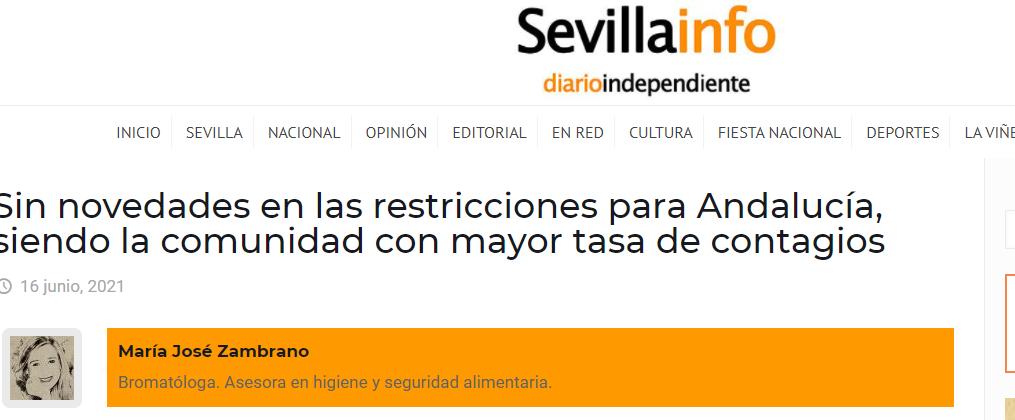 Sevillainfo, sin novedades en hosteleria andaluza en 15 días