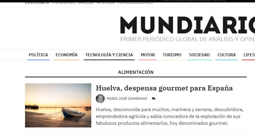 Mundiario, Huelva, despensa gourmet