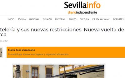 SEVILLAINFO, Hostelería y sus nuevas restricciones. Vuelta de tuerca. BOJA 22/07/21
