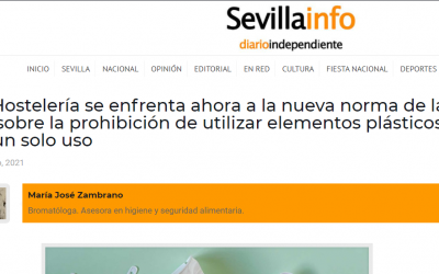 Sevillainfo, Nuevas normas para plásticos en restauración.