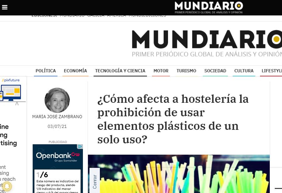 Mundiario, Nuevas normas para plásticos en restauración.